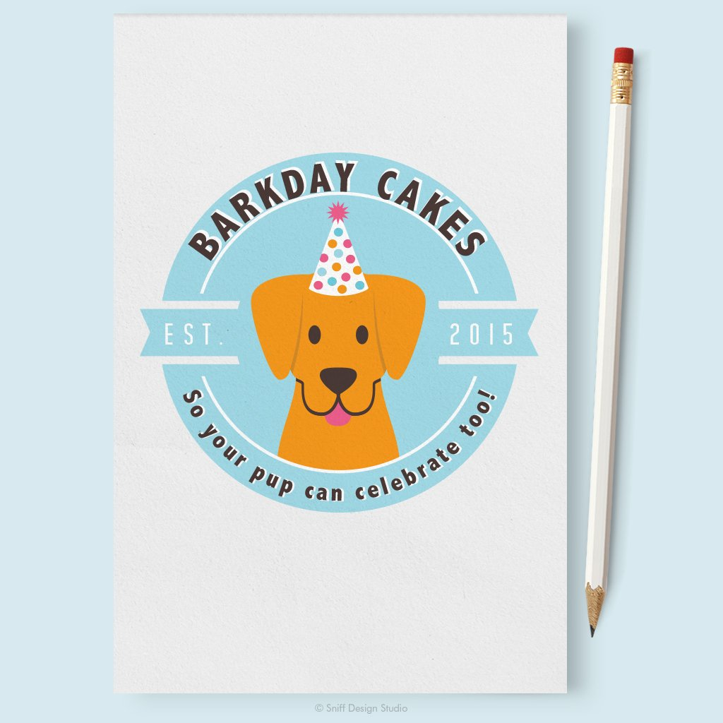 Barkday Cakes Pet Business Logo Design Showcase