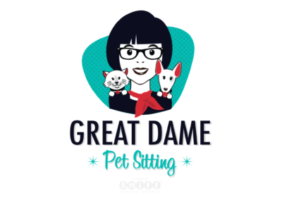 Great Dame Pet Sitting Logo Design