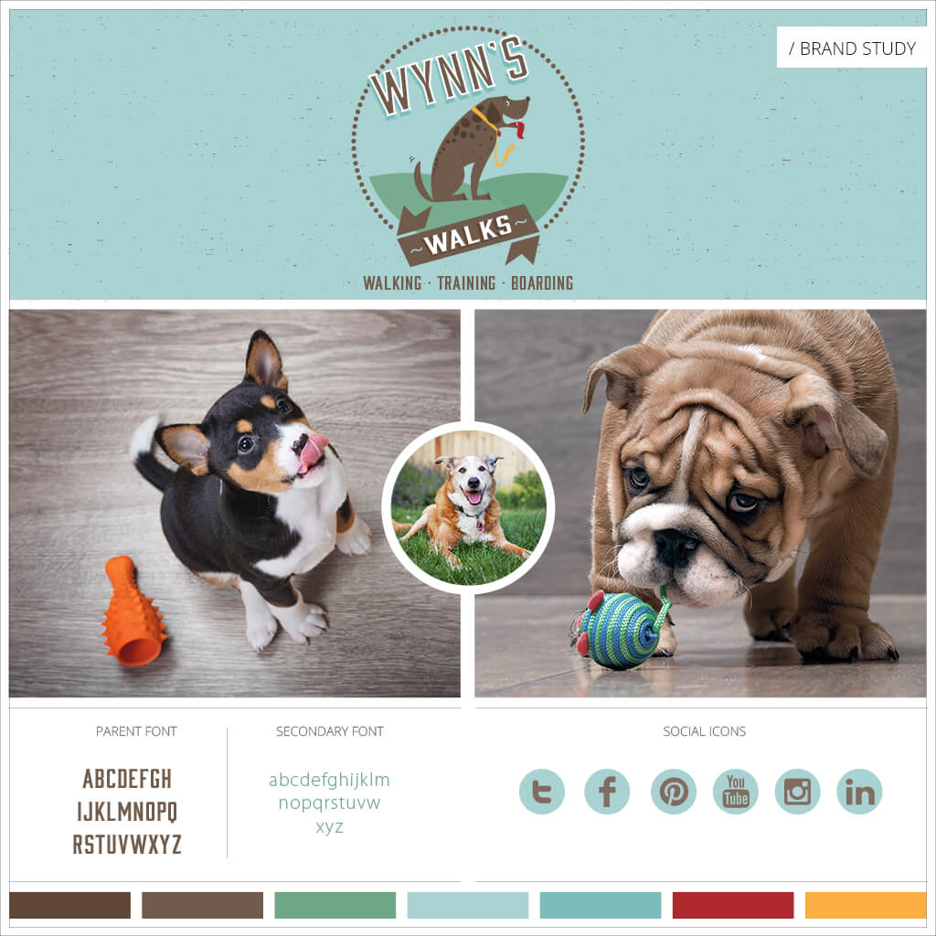 Wynn's Walks Pet Business Brand Study by Sniff Design Studio