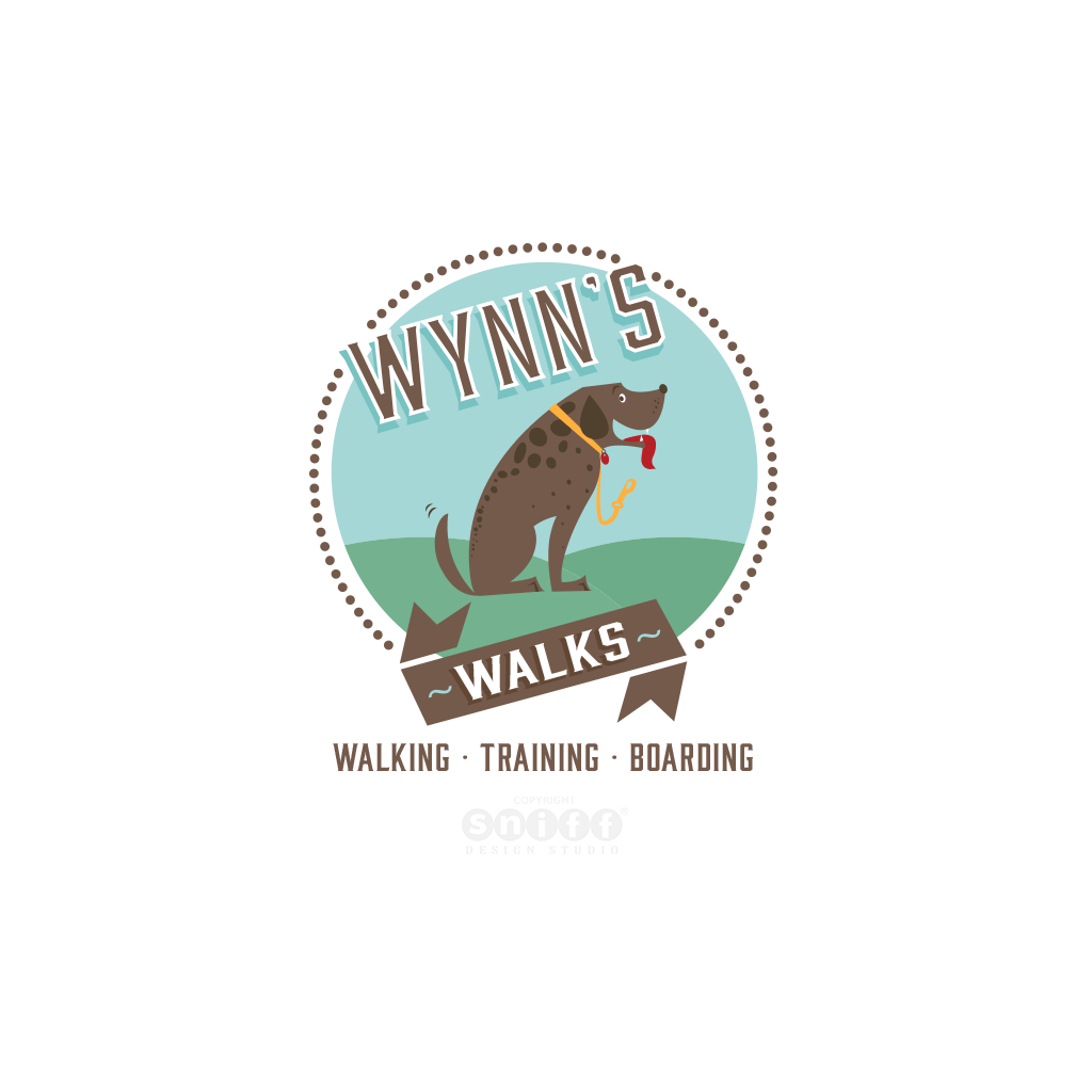 Wynn's Walks Pet Business Logo Design by Sniff Design Studio