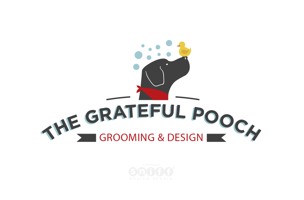 The Grateful Pooch Grooming Logo Design & Brand