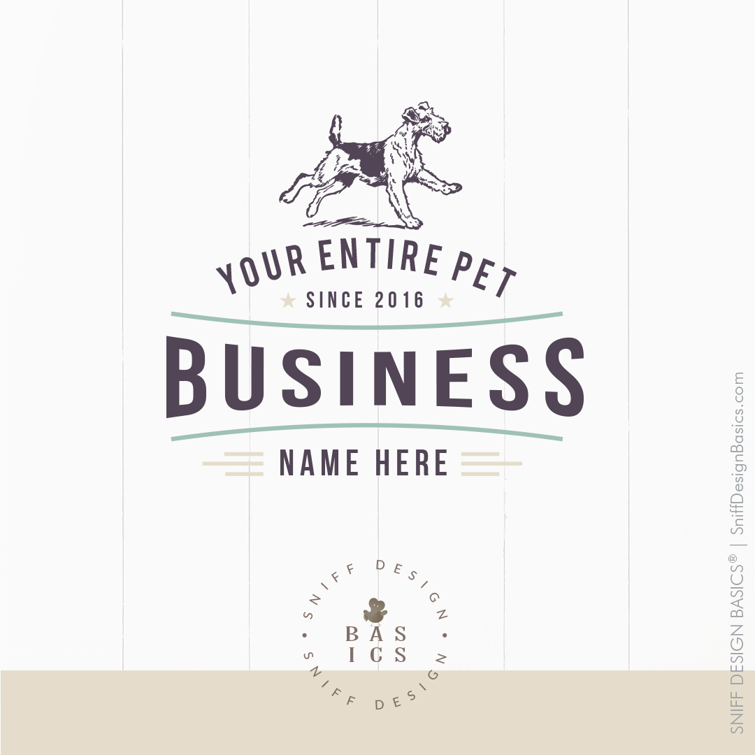 Done for you dog training academy pet business branding kit for sale