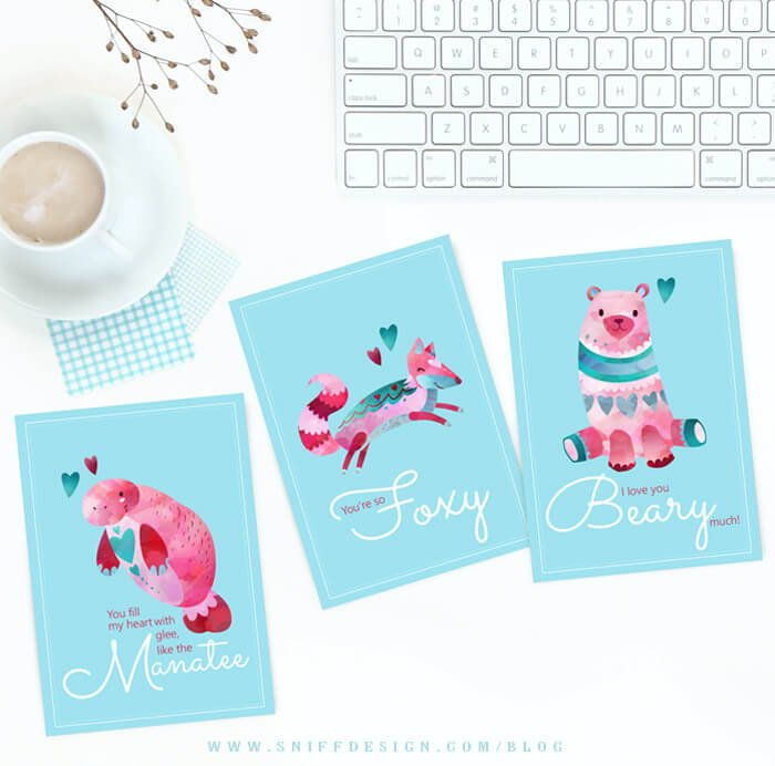 Free-animal-themed-valentine-card-set-by-sniff-design-studio-dog-blog