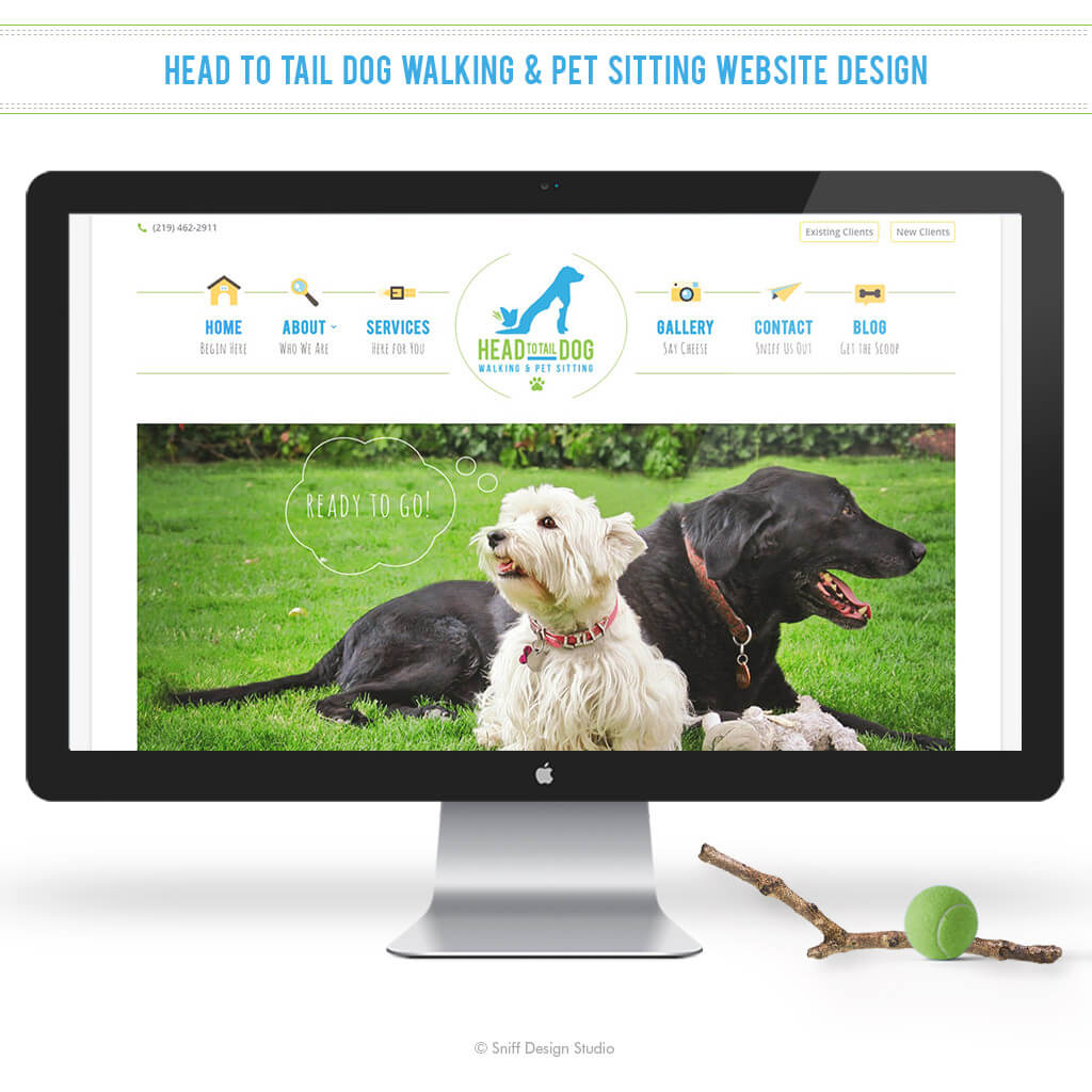 Head To Tail Dog Walking Custom Pet Siting Website Design