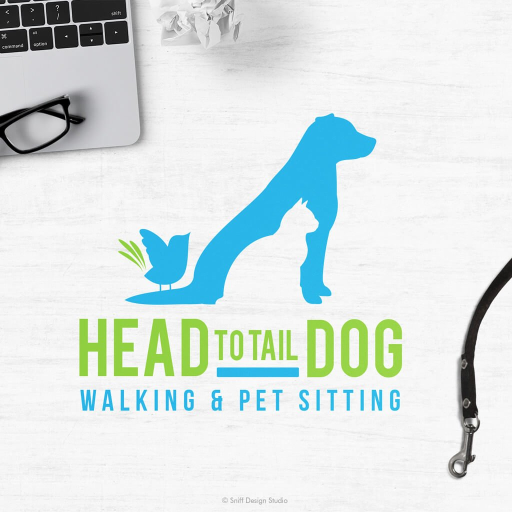 Head To Tail Dog Walking and Pet Sitting Logo Design
