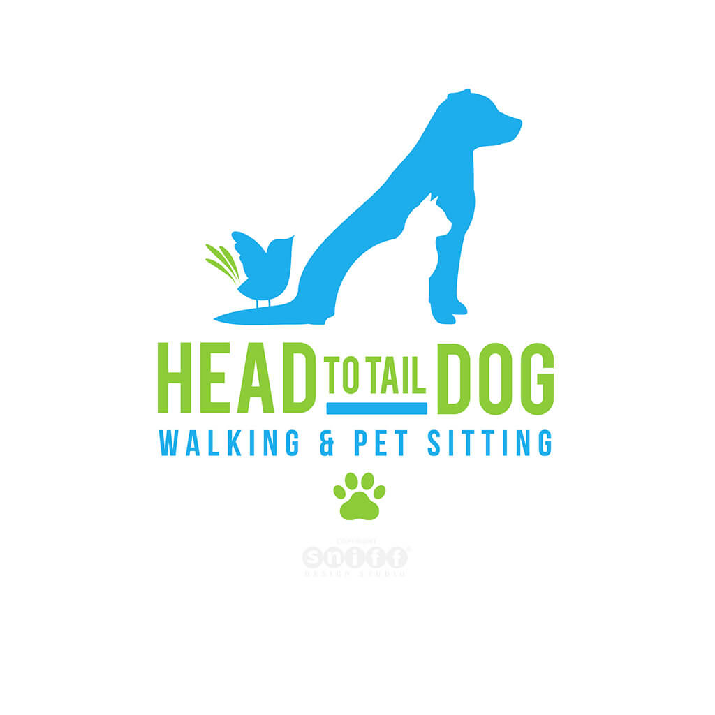 Head To Tail Dog Walking & Pet Sitting Logo Design
