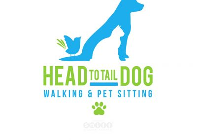 Head To Tail Dog Walking & Pet Sitting Logo and Web Site Design