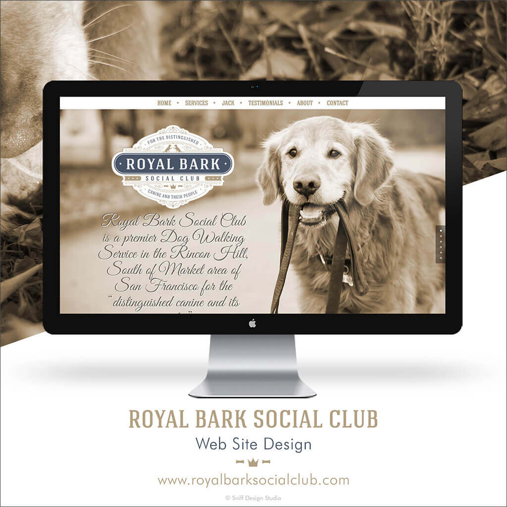 Custom Dog Walking Business Web Site Design for Happy Dog Baltimore by Sniff Design Studio