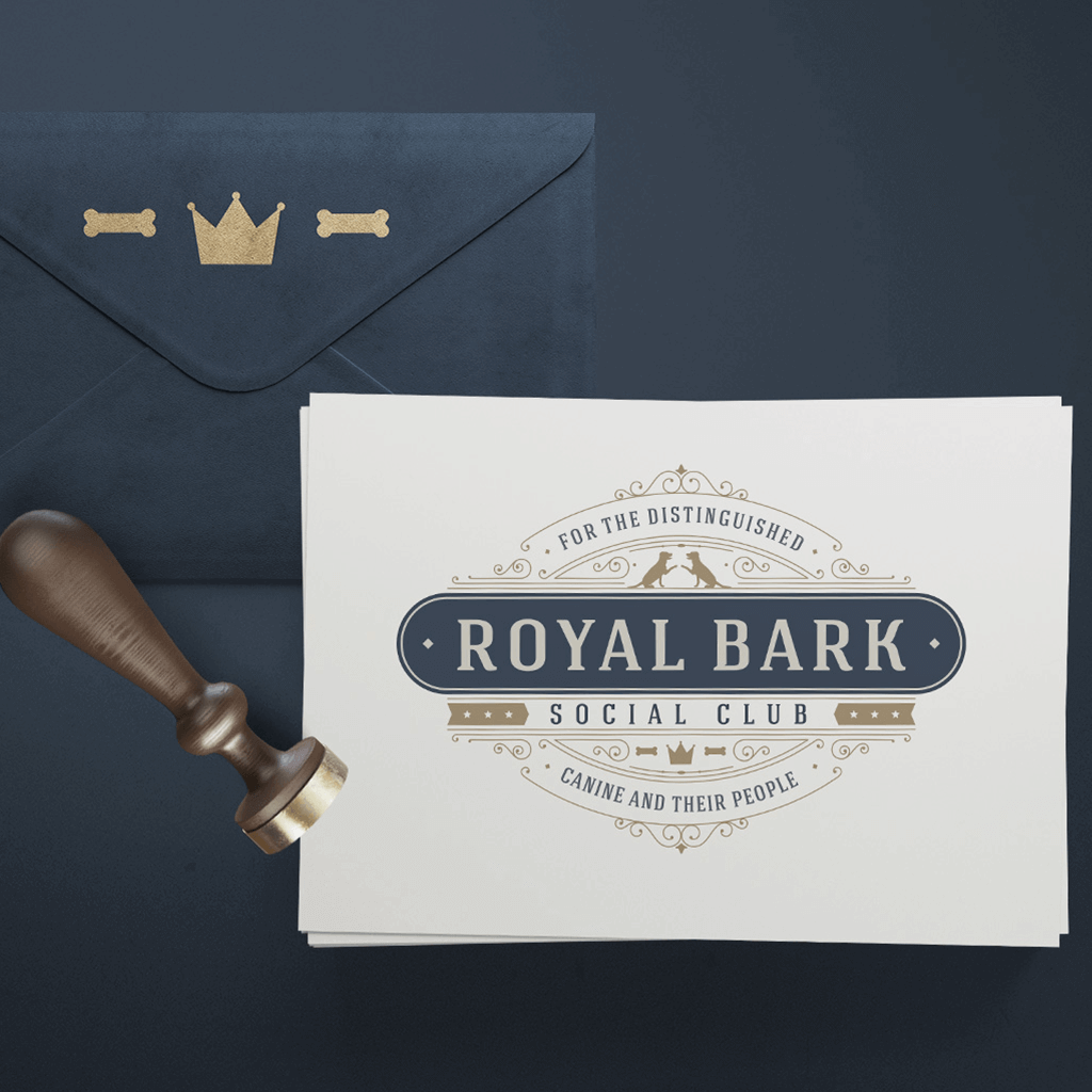 Royal Bark Social Club Pet Business Logo Design by Sniff Design Studio ShowcaseImage 2
