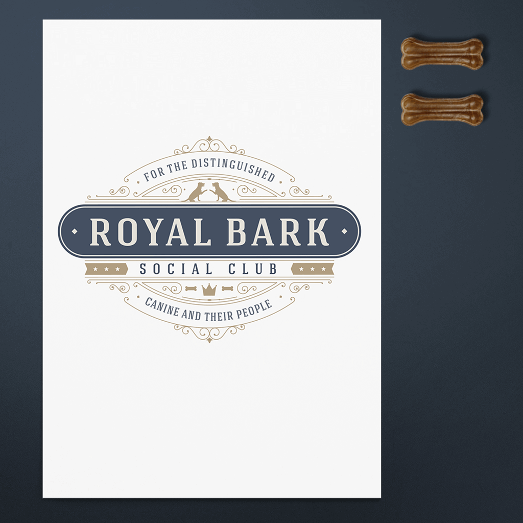 Royal Bark Social Club Pet Business Logo Design by Sniff Design Studio ShowcaseImage 1