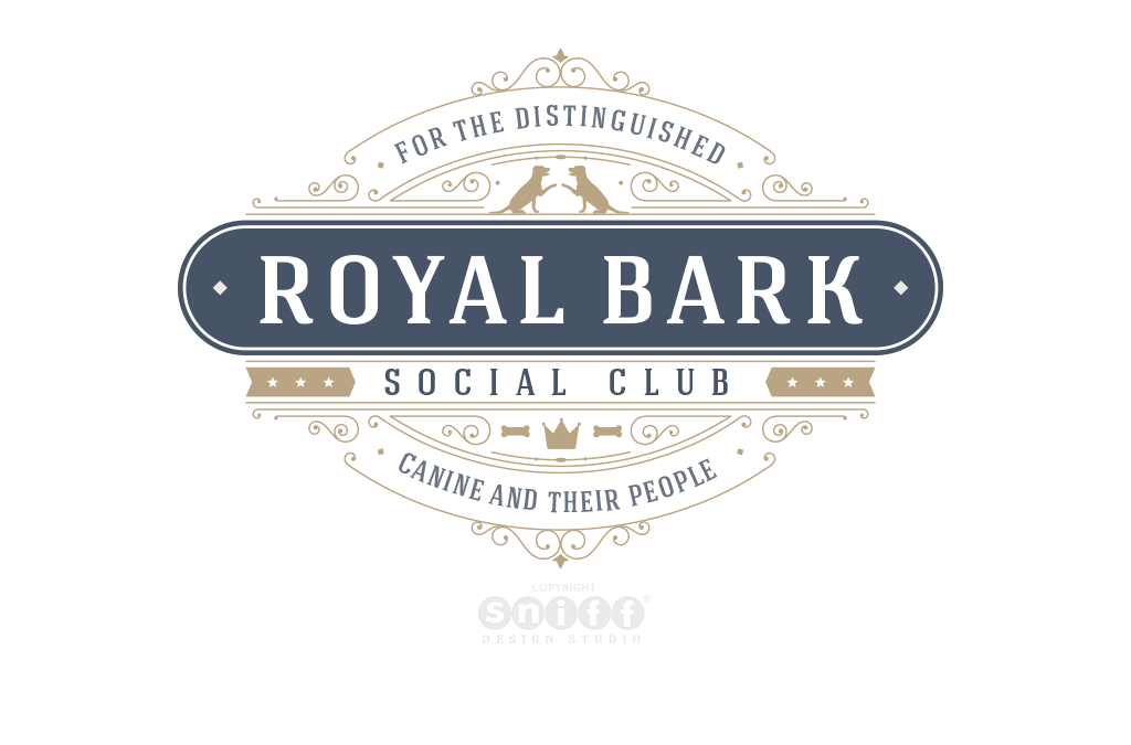Royal Bark Social Club – Pet Logo Design, Pet Branding and More