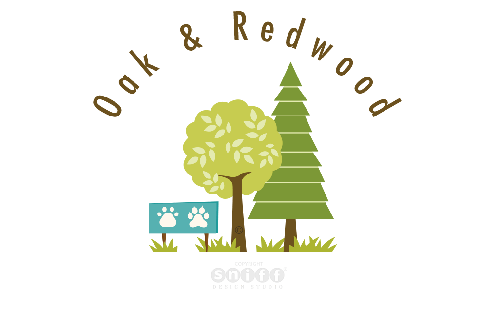 Oak & Redwood – Pet Business Logo Design