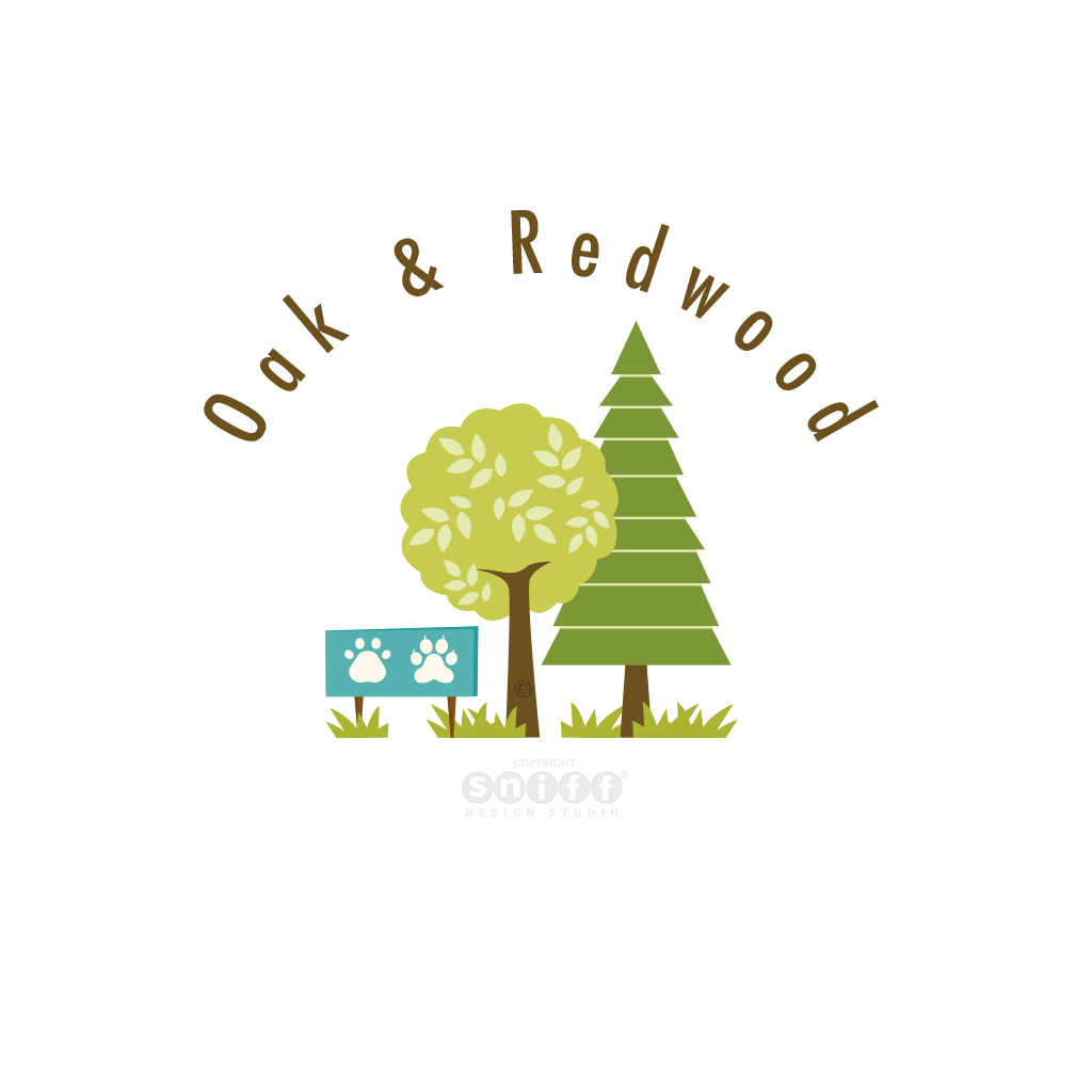 Oak-And-Redwood-Pet-Business-Logo-Design-by-Sniff-Design-Studio