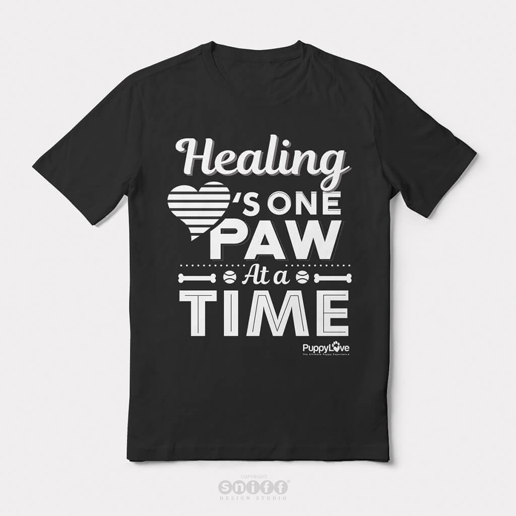 Typographic-T-Shirt-Design-for-Puppy-Love-by-Sniff-Design-Studio-Black-And-White-Version