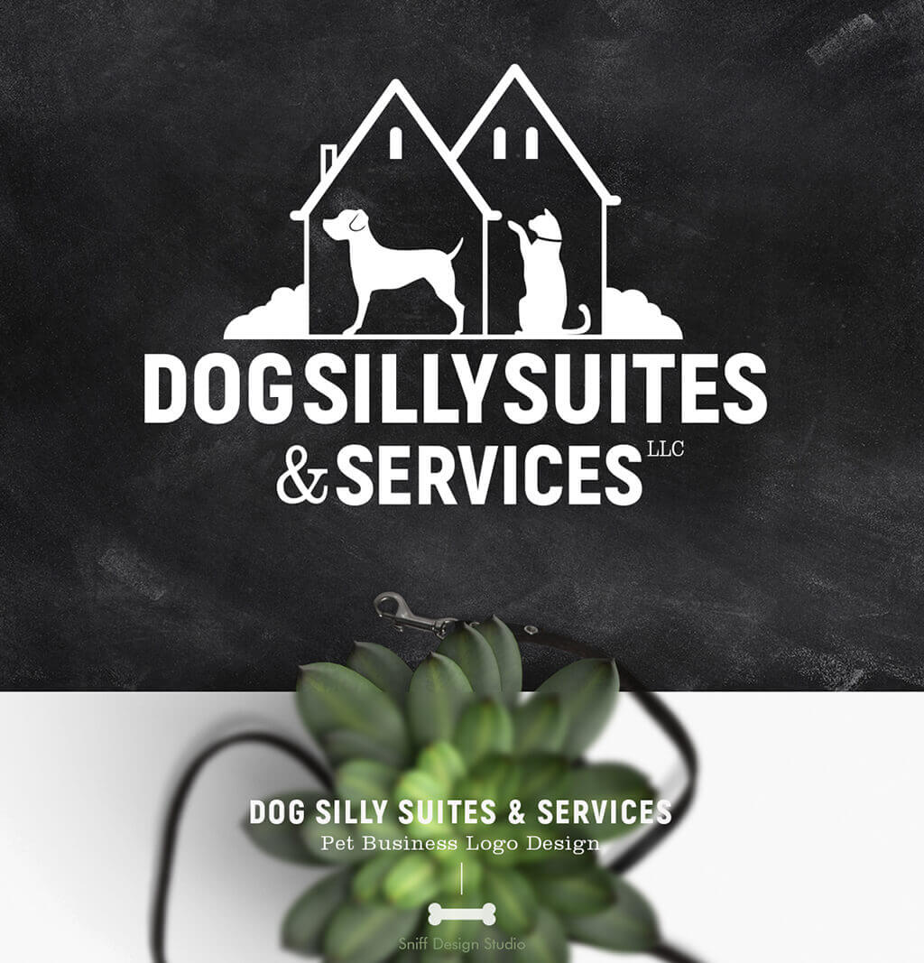 Dog-Silly-Suites-&-Services-Pet-Business-Logo-Design-Showcase-Image-by-Sniff-Design-Studio