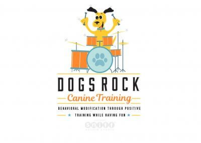 Dogs Rock Canine Training Logo Design – Pet Business Branding
