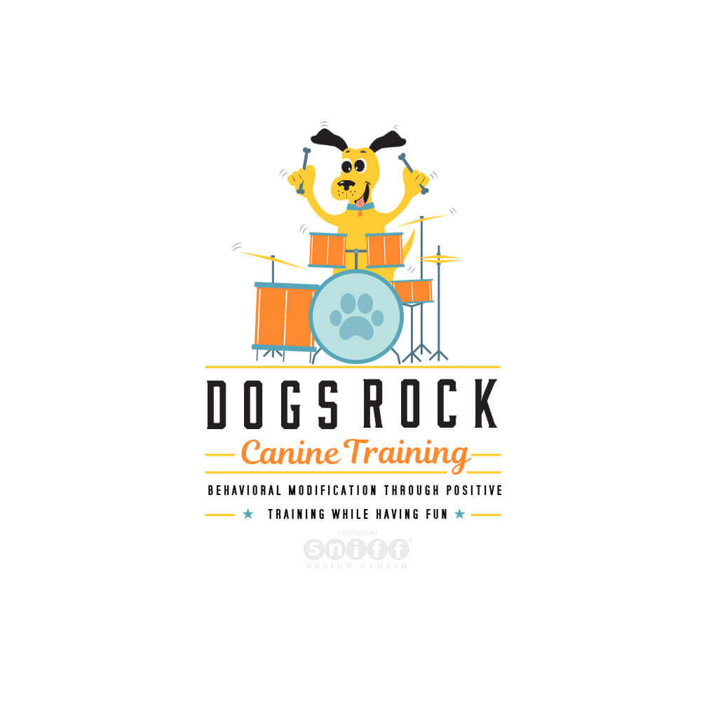 Dogs-Rock-Canine-Training-Logo-Design-by-SniffDesignStudio