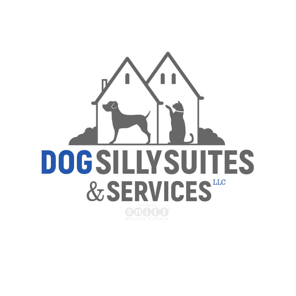Pet Sitting and Dog Walking Logo Design for Dog Silly Suites by Sniff Design Studio