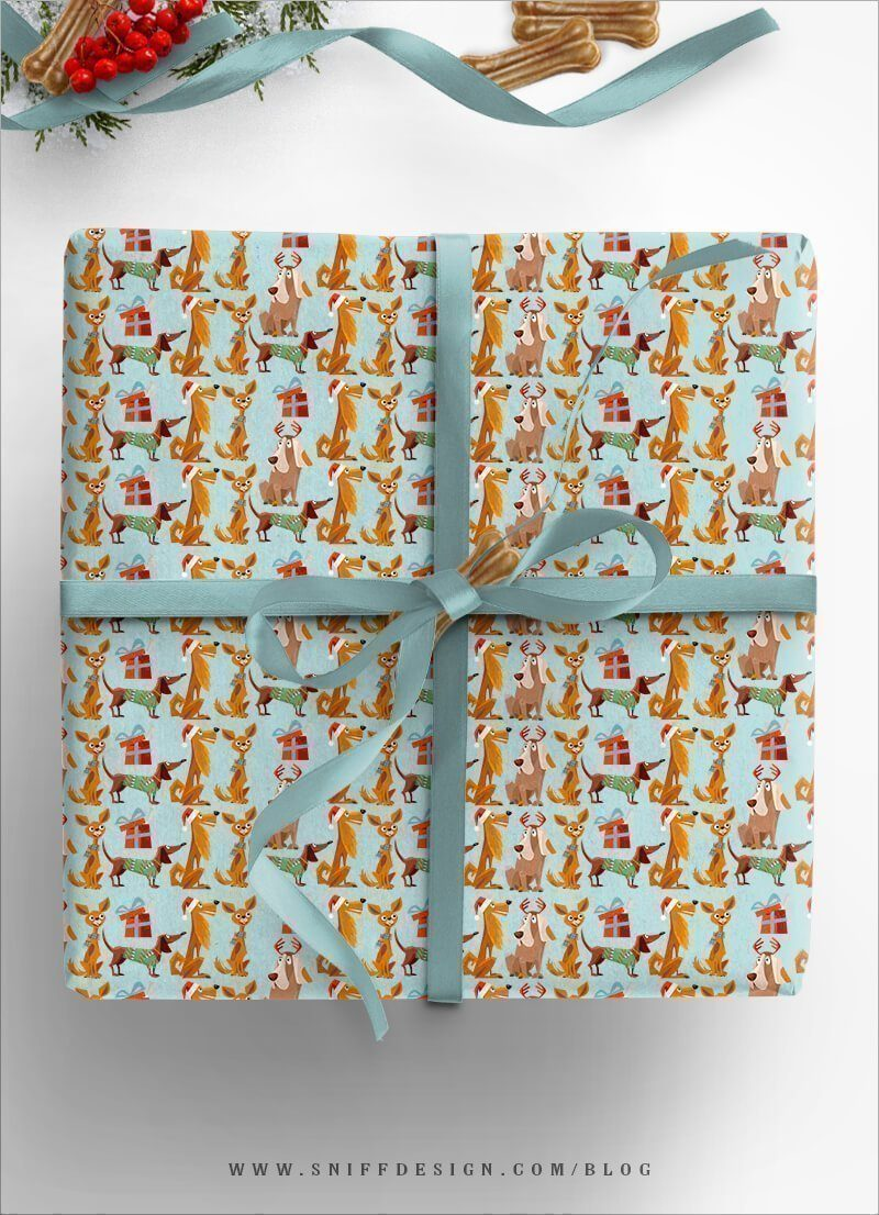DIY-Dog-Gift-Wrap-Dog-Themed