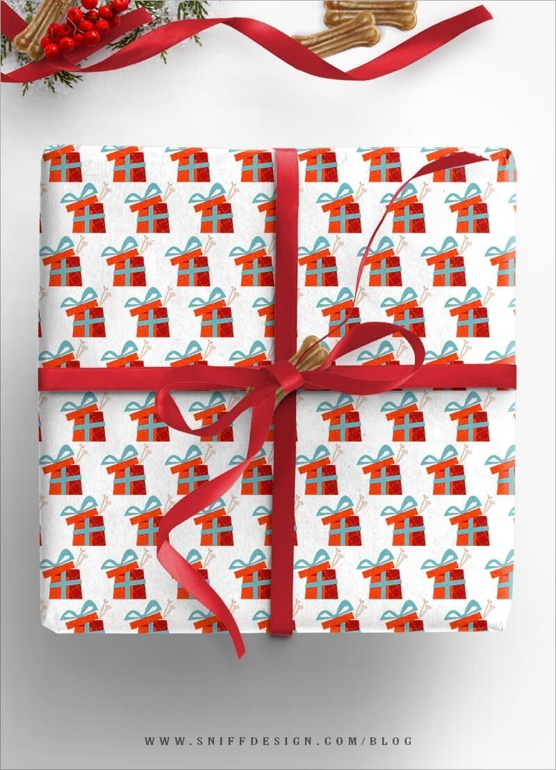 DIY-Dog-Gift-Wrap Present-Theme