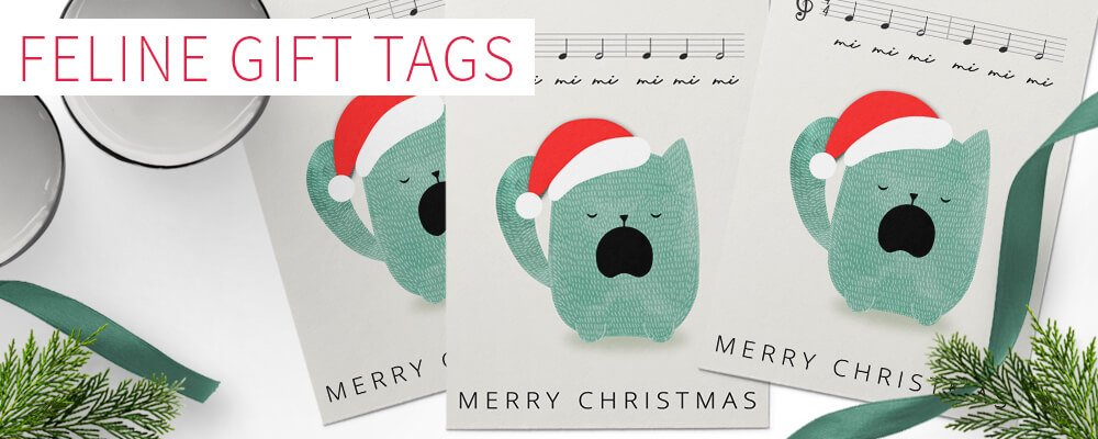 Feline Fun Christmas Gift Tag Download Freebie from Sniff Design Studio