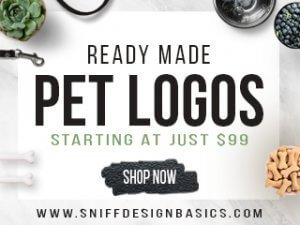 pre-made and ready made pet business logo designs by Sniff Design Basics