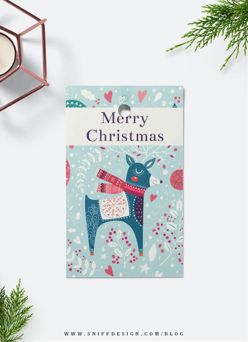 Free Christmas gift tag download from Sniff Design Studio 3