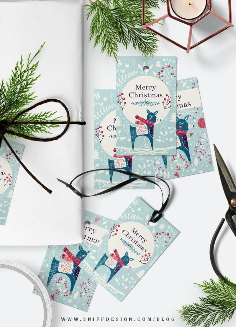 Free christmas gift tag download from Sniff Design Studio 1