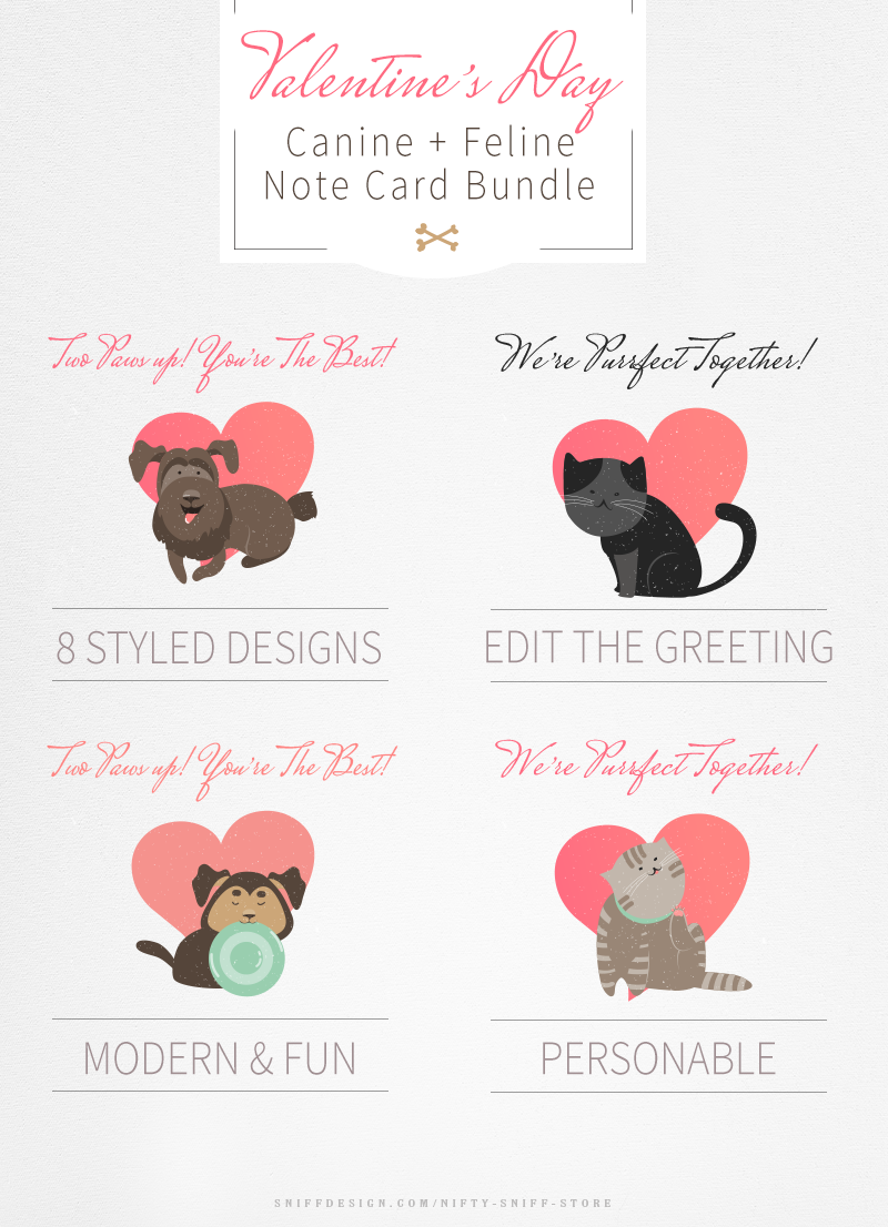 Valentine's-Day-Dog-and-Cat-Note-Card-Bundle-For-Pet-Business-Professionals
