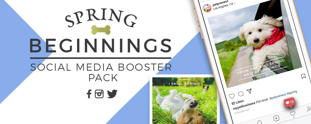 Spring Themed Social Media Booster Pack For Pet Businesses