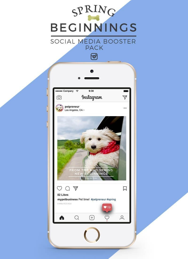 Spring Social Media Booster Pack For Pet Businesses - Product Image 1 - by Sniff Design Studio