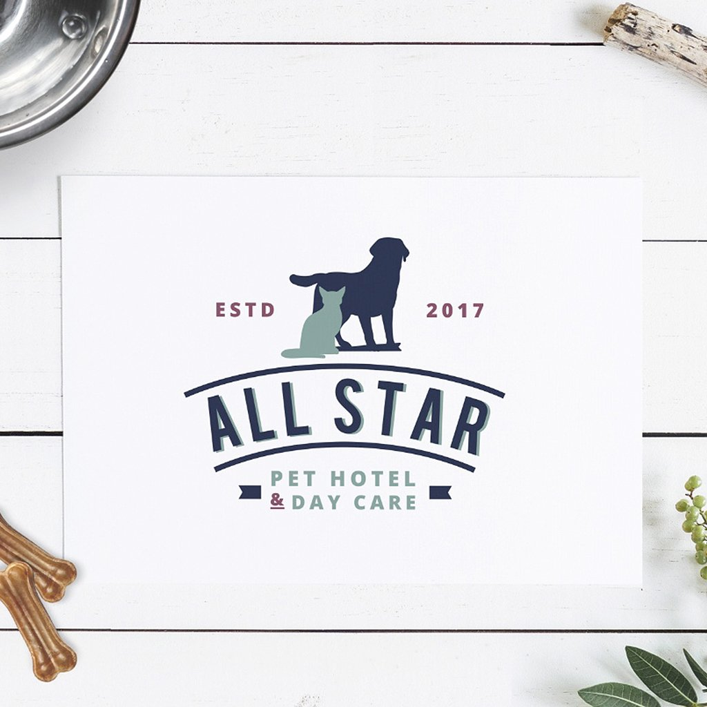 All-star-pet-hotel-and-day-care-logo-design-by-Sniff-Design-Studio-2