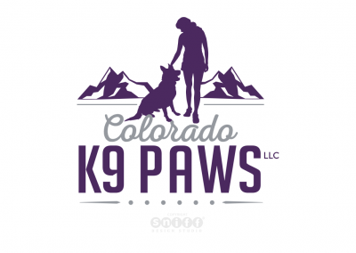 Pet Business Logo Design for Colorado K9 Paws