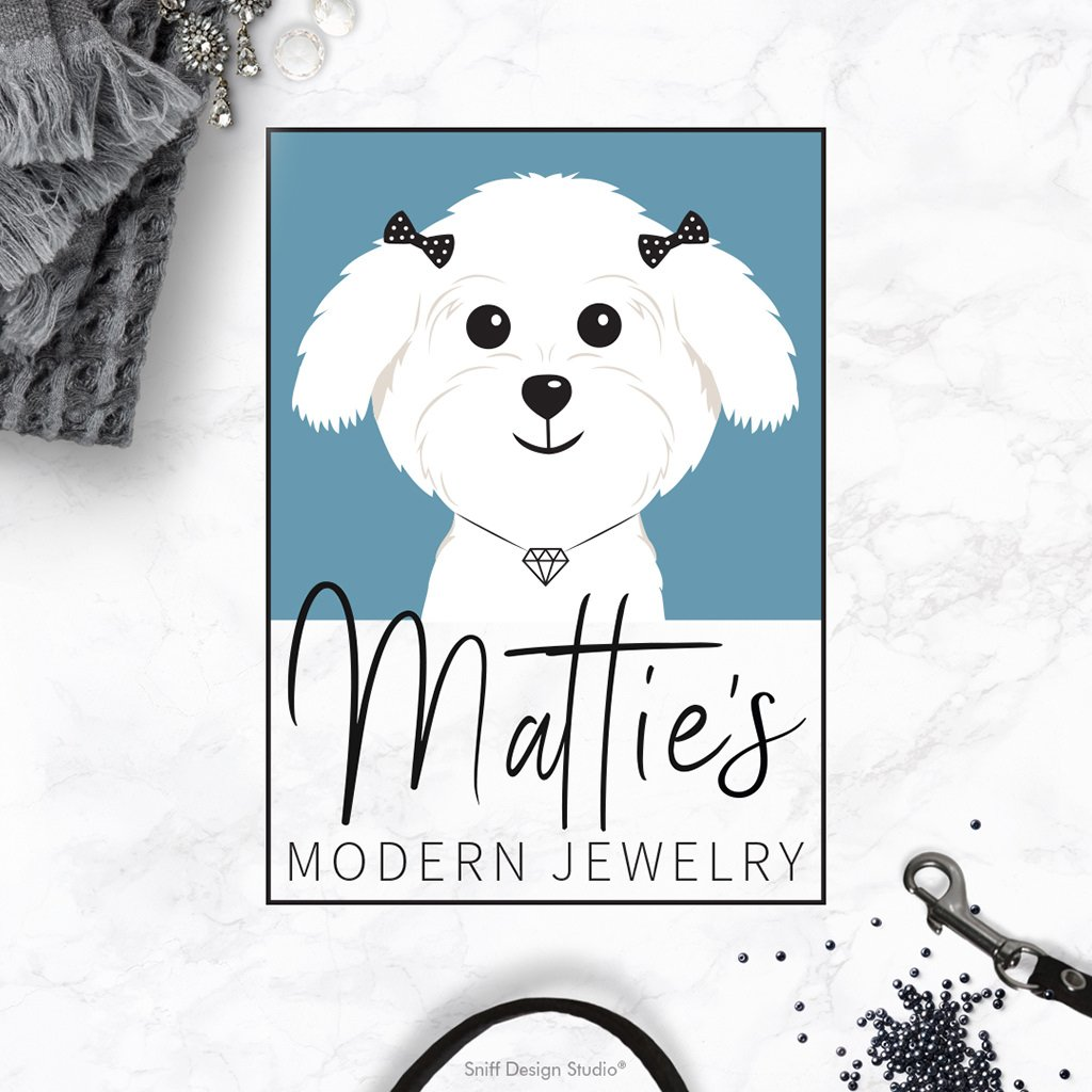 Matties Modern Jewelry logo design and branding showcase by Sniff Design Studio