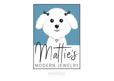 Pet Business Logo Design And Pet Branding for Mattie's Modern Jewelry