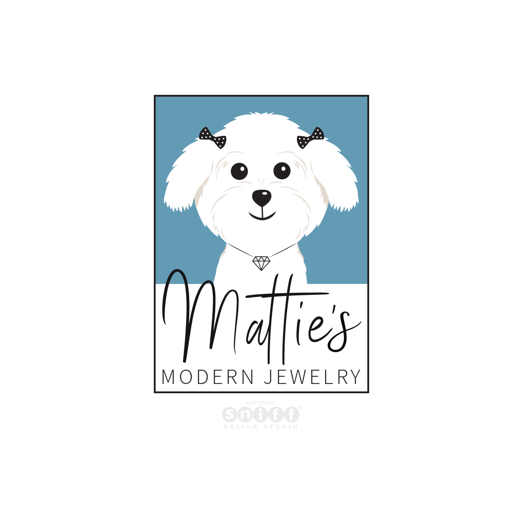 Matties Modern Jewelry Logo Design by Sniff Design Studio