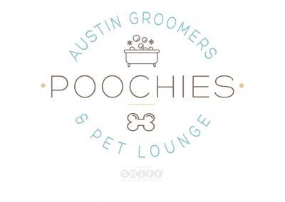 Pet Business Logo Design, Branding & More for Poochies Austin Groomers Pet Lounge