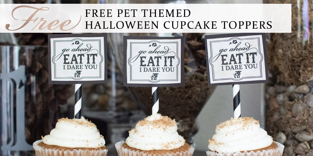 Free Pet Themed Halloween Cupcake Toppers