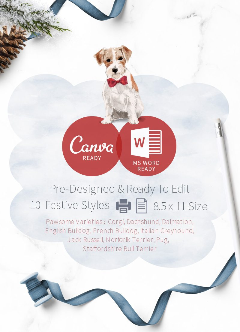 Christmas themed pet sitting report cards feature image by Sniff Design Studio 2 Edited