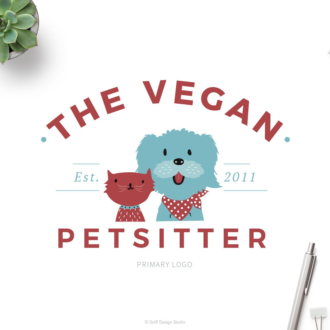 The Vegan Pet Sitter Logo Design by Sniff Design Studio