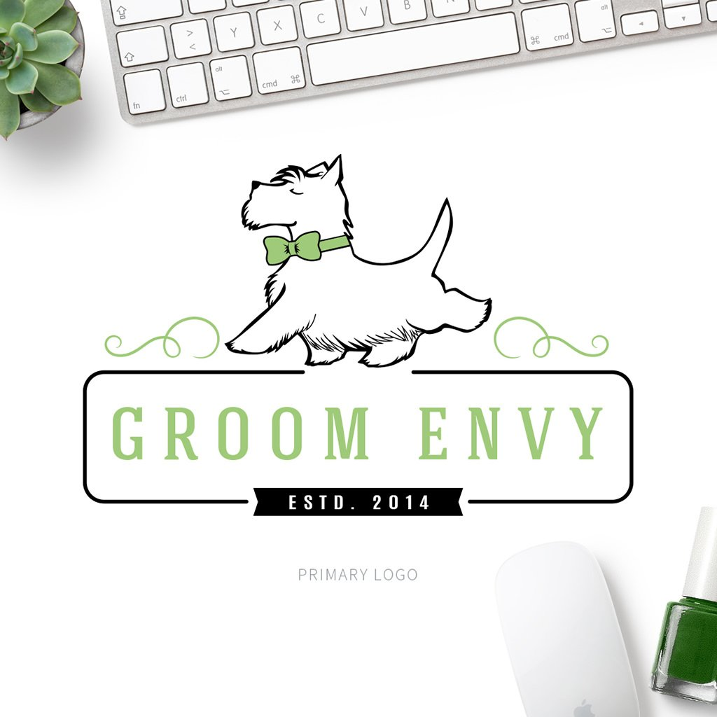 Groom Envy Pet Business Logo Design 2 by Sniff Design Studio 2