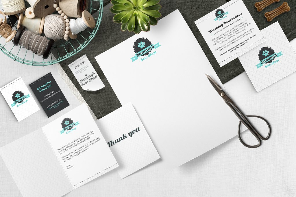 Sammy Sew Shop Pet Business Branding by Sniff Design Studio