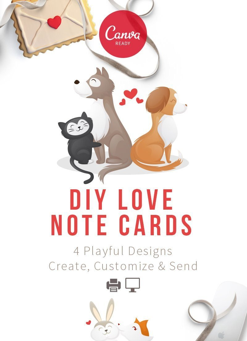 DIY Canva Ready Love Note Cards For Pet Business Owners
