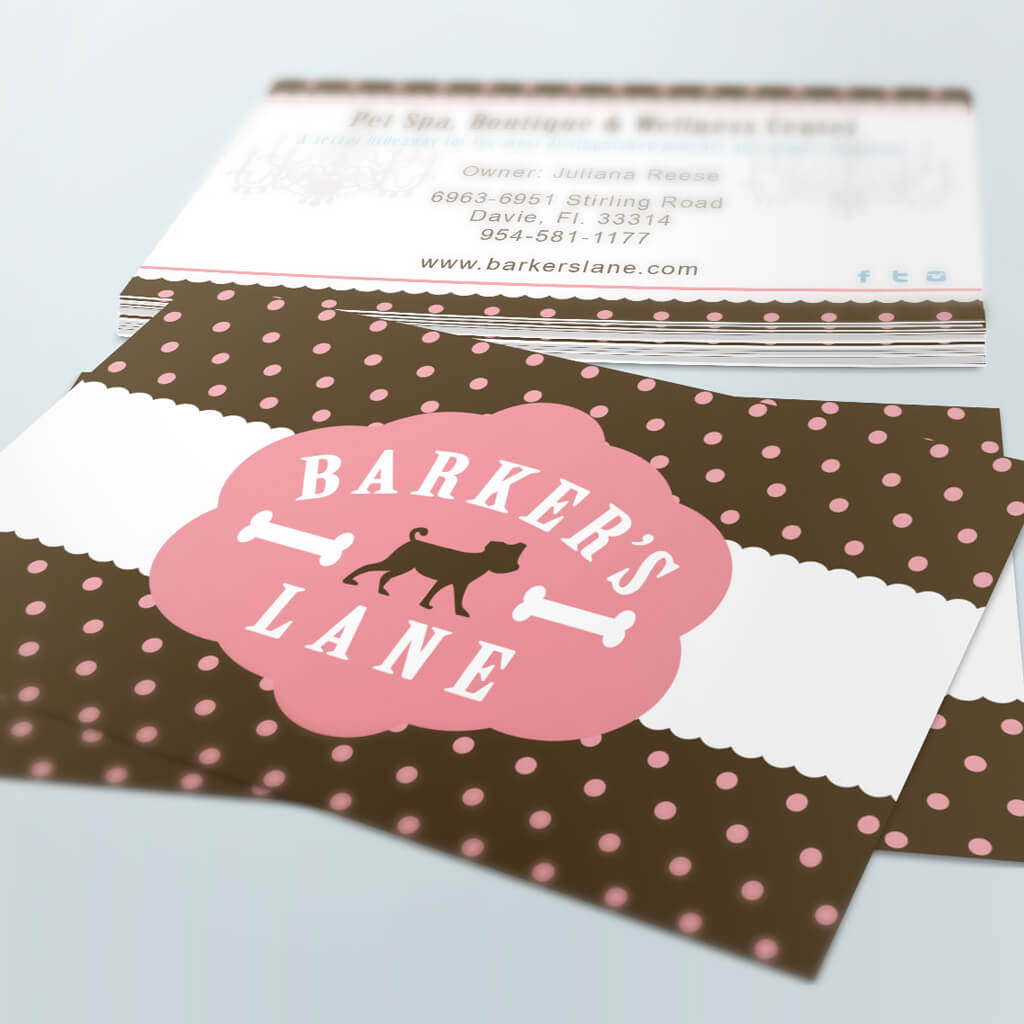 Barkers Lane Pet Boutique Business Card Design by Sniff Design Studio