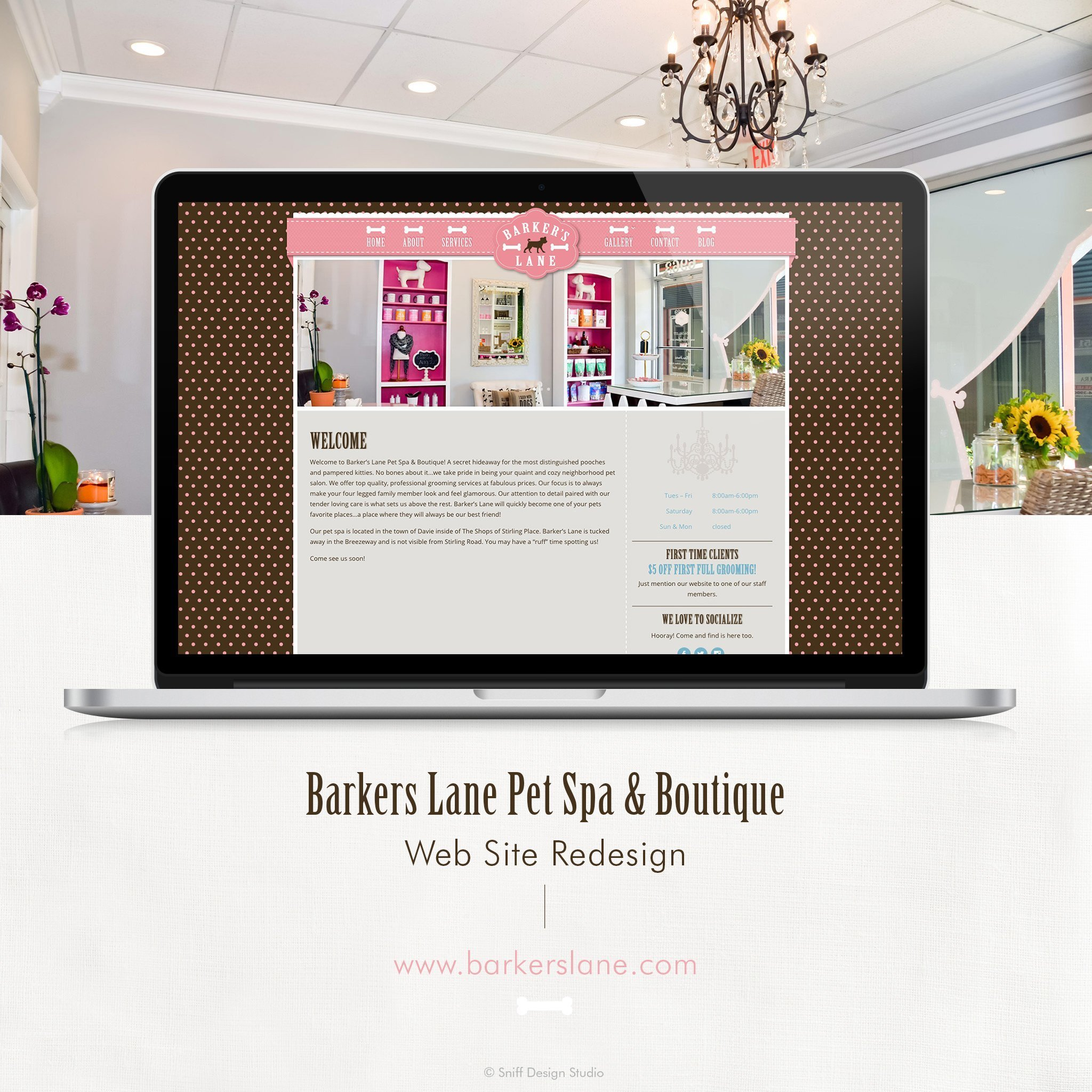 Barkers Lane New Web Site Design by Sniff Design Studio