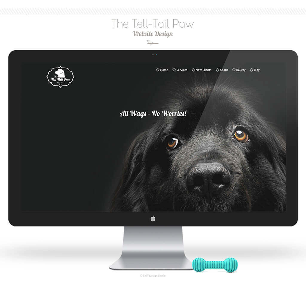 The Tell Tail Paw Dog Training Bakery Website Design by Sniff Design Studio
