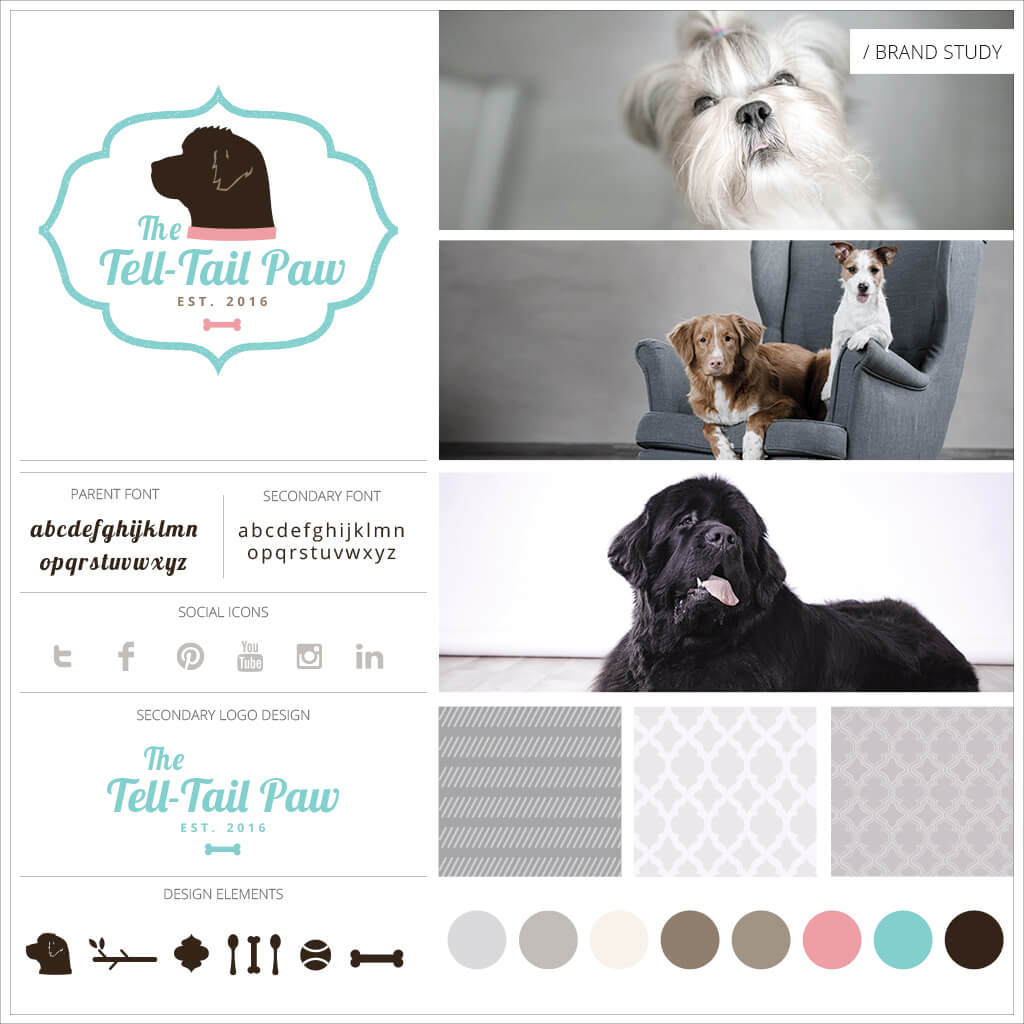 The Tell Tail Paw Dog Bakery Logo Design by Sniff Design Studio