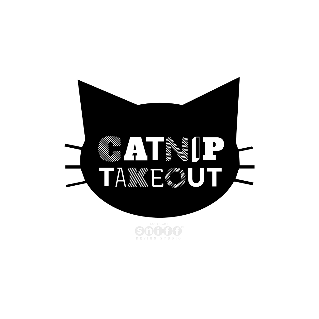 Catnip Takeout Cat Toy Logo Design by Sniff Design Studio