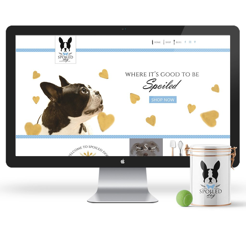 Pet Web Site Design for Spoiled Dog Nutrition Dog Treat Company by Sniff Design Studio