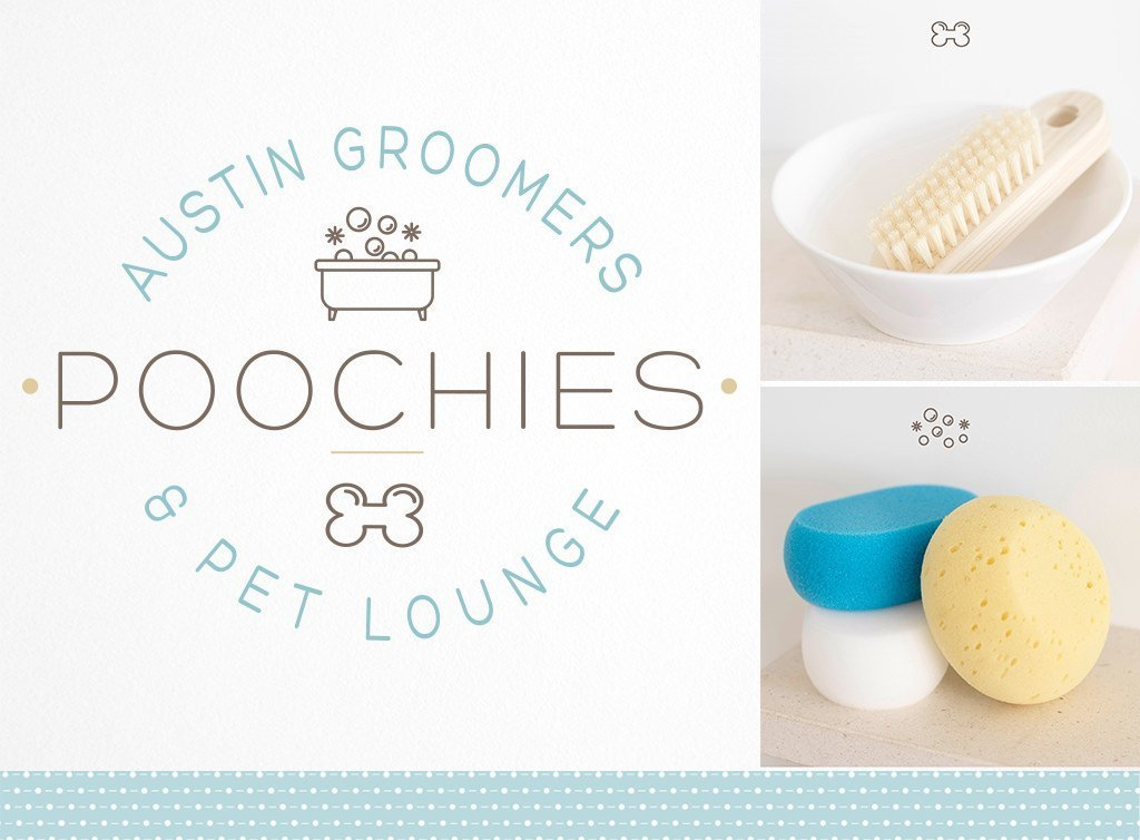 Poochies-Austin-Groomer-and-Pet-Lounge-Logo-Design-by-Sniff-Design-Studio-2
